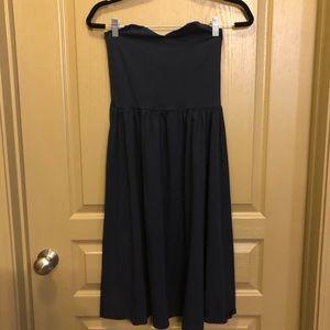 *MOVING SALE* ASOS navy blue strapless dress